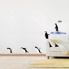 Penguin Group Dive Wall Decal at AllPosters.com
