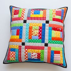Scrappy Quilted Patchwork Pillows2