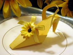 SUNFLOWER party shower favor boxes - wedding birthday bridal baby