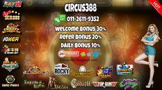 PENGHUJUNG BULAN MESIN HOT MUNTAH  CIRCUS388 SENANG DAPAT ANGPAU & JACKPOT. JOM TRY LUCK MANY UNIQUE GAMES PAYOUT. NIUNIU BET~ FIGHT BULL  Circus388.blogspot.com Wechat / whatsapp BIT.LY/601126119352  #SCR888 --> Wong Choy #SKY777 --> Zhao cai jin bao #SKY99 --> Three Kingdom #JOKER123 --> Miami #LPE88 --> Streak of luck #GW99 --> Fongshen  - WELCOME BONUS 30% - REFER BONUS 20% - DAILY BONUS 10% - IOS/ANDROID SEMUA DAPAT MAIN. - WE ARE 24 OPERATOR SERVICE/ - 100% TRUSTED SINCE 20
