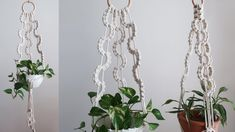 Macrame Plant hanger using wave pattern / 마크라메 플랜트 행거 만들기 Macrame Plant Hangers, Macrame Tutorial, Wave Pattern, Fashion Sewing, Wall Hanger, Youtube, Plants, How To Make, Tutorials