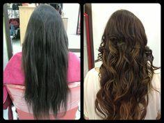 En pelo oscuro da poca luminosidad, mejor ahora que se lo puse marrón con reflejos ¿verdad?