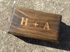 Engraved Ring Box for Ring Bearer or Gift Box Rustic Wedding on Etsy, CHF14.80