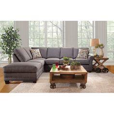 Charlton Home Serta Upholstery Galena Right Facing Sectional Upholstery: Jitterbug