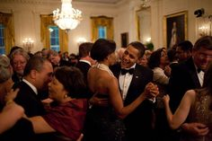 Barack and Michelle Obama dancing...