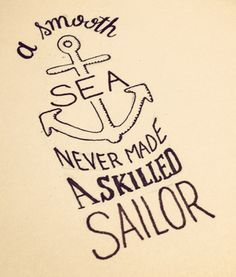 A Smooth Sea | seanwes hand lettering & type design | Sean McCabe (T-shirt avail too!)