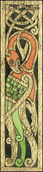 Aon Celtic Art bird panel