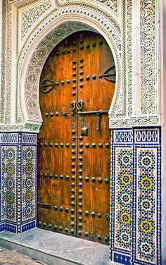 Image of 'Architectural details and doorways of Morocco'