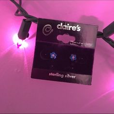 ☄Sterling Silver Flower Earrings Delicate and dainty, these crystal sterling silver earrings from Claire's have never been worn. Give them some loving lobes to live on! :) Claire's Jewelry Earrings