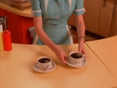 Two cups of good hot black coffee from the T.V. series Twin Peaks