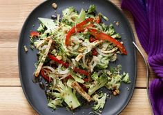 Summer = Salads. Broccoli Slaw Salad with Five-Spice Tofu from @Vegetarian Diet Times.