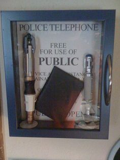 too nerdy not to repin. now I want a police box shadowbox.