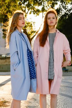 TWP Summer Editorial featuring Button-Cuff Angel Dress Gingham http://www.thewhitepepper.com/collections/dresses/products/button-cuff-angel-dress-gingham-1 Coat Pink http://www.thewhitepepper.com/collections/coats-jackets/products/oversized-duster-coat-pink Angel Dress in Navy Polka http://www.thewhitepepper.com/collections/dresses/products/polka-button-cuff-angel-dress-in-navy Oversized Duster Coat Blue…