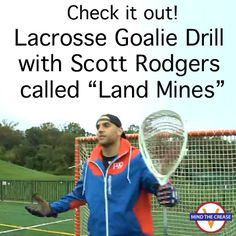 """Scott Rodgers shares the drill is called """"Land Mines"""" and all you need are eight cones and eight balls. Read more: http://mindthecrease.com/lacrosse-goalie-drill-with-scott-rodgers/"""