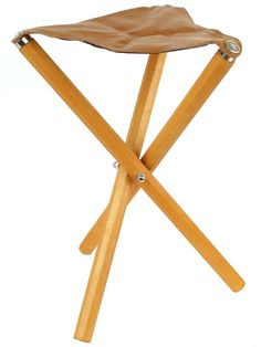 Wooden with Leather Seat Daler Rowney Artists Stool