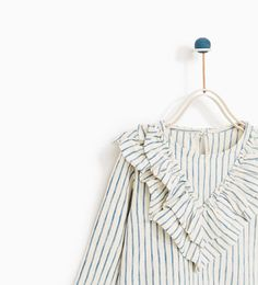 STRIPED T-SHIRT WITH FRILLS-NEW IN-BABY GIRL | 3 months-4 years-KIDS | ZARA United Kingdom