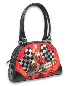 Liquor Brand Damen QUEEN OF SPEED Handtasche/Bags.Tattoo,Pin up,Biker Style