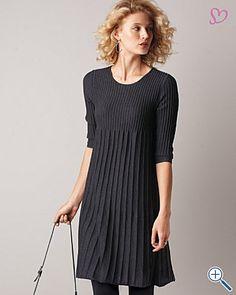 eileen fisher wool scoop-neck dress