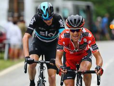 Richie Porte of Australia and the BMC Racing Team leads Chris Froome of Great Britain and Team SKY on stage five of the 2016 Criterium du Dauphine a 140km stage from La Ravoire to Vaujany, on June 10, 2016 in Vaujany, France.