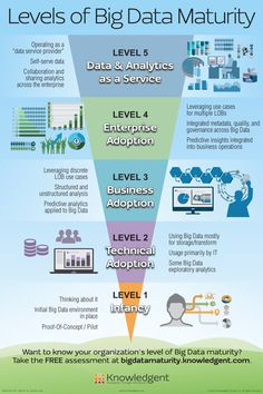 Developing and implementing a Big Data strategy is not an easy task for organisations. This infographic shows five levels of Big Data maturity in companies. Data Science, Computer Science, Computer Programming, Forensic Science, Environmental Science, Life Science, Business Intelligence, Visualisation, Data Visualization