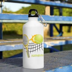 Personalised gym water bottle gift with colourful elephant design bf14