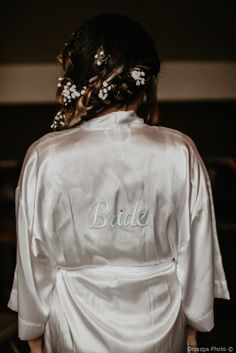 Find wedding inspiration with this Fall Wedding in Pittsburgh, PA. Married on Whimsical Wedding, Fall Wedding, Braided Hairstyles, Real Weddings, Wedding Photos, Braids, Bomber Jacket, Wedding Inspiration, Wedding Dresses