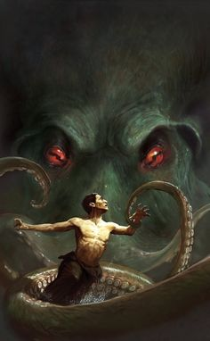"""It's well known that the great Cthulhu has a particular bond with artists of all sorts. Lovecraft's """"The Call of Cthulhu"""" it's docu. Hp Lovecraft, Lovecraft Cthulhu, Cthulhu Art, Call Of Cthulhu, Arte Horror, Horror Art, O Kraken, Necronomicon Lovecraft, Lovecraftian Horror"""