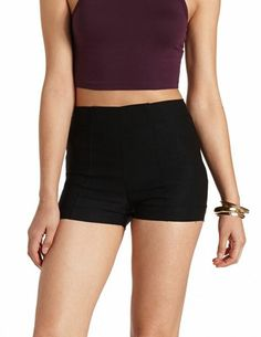 Cuffed High-Waisted Shorts: Charlotte Russe