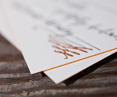 Letterpress Wedding Invitations | Gracieux Design | Bella Figura Letterpress