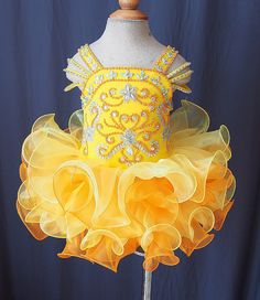 Lovely Yellow Little Girls Pageant Dresses Cupcake Princess