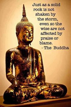 ...The wise are not affected by praise or blame.  Buddha