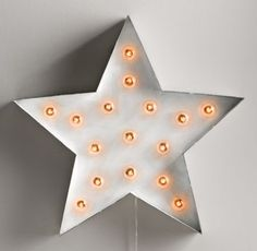 Vintage Illuminated Star White