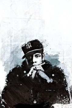 Jay Z #illustration: A god to many genre's of art, music, culture and people. This image is iconic to me as I believe it's how Jay-z should be remember, always.