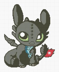Ravelry: darkleena's Chibi Toothless This is a modified version of the original pattern by Monica.