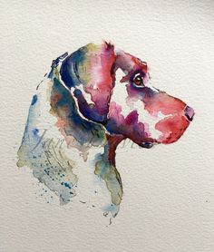 Pet portrait Labrador painted in watercolour by artist Jane Davies