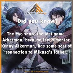 SPOILERS-->Actually, now that I've caught up with the manga, Kenny had some sort of blood relation with Mikasa's father. Kenny also happens to be Levi's uncle.