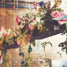 Think outside the box and get creative with your wedding flowers, neverland