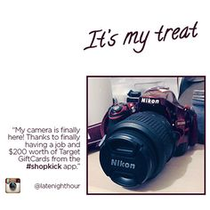She traded her shopkick kicks for Target GiftCards & snagged this Nikon camera.  #shopkick
