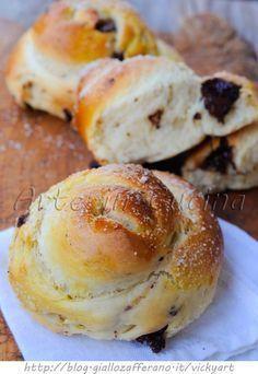 Brioche alla ricotta e cioccolato ricetta colazione vickyart arte in cucina