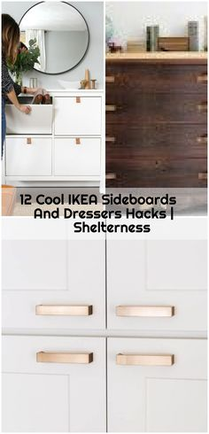 12 Cool IKEA Sideboards And Dressers Hacks | Shelterness , 12 Cool IKEA Sideboards And Dressers Hacks | Shelterness... ,  #Cool #dressers #hacks #Ikea #Shelterness #Sideboards Ikea Dresser Hack, Dressers, Sideboard, Vanity, Hacks, Cool Stuff, Dressing Tables, Powder Room, Chest Of Drawers