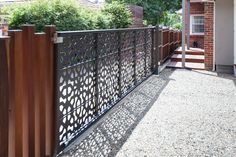 Geometric architectural laser cut metal art. Automated gates and decorative screening