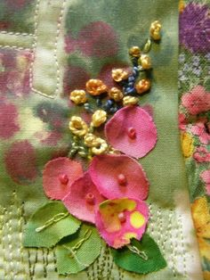 Embroidery Art, Embroidery Applique, Cross Stitch Embroidery, Embroidery Patterns, Machine Embroidery, Fabric Art, Fabric Crafts, Sewing Crafts, Crazy Quilt Stitches