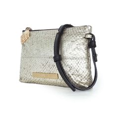 Ethical leather bag - Laine Atlantic Salmon Crossbody Gold - Lovia