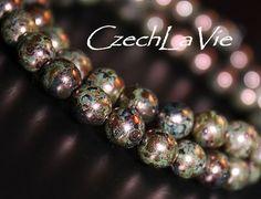 NEW 6mm Czech Druk Beads RedRed Bronze 071 by CzechLaVie on Etsy, $3.12