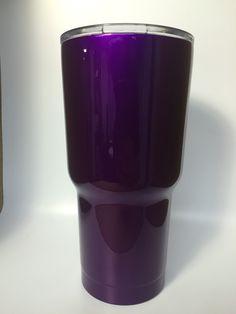 fc437cd202f Deep Translucent purple powder coat on a 30 oz RTIC Custom designs available