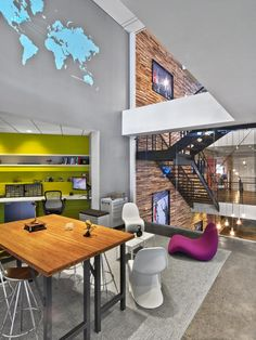 TPG Architecture has designed a new office space in New York City for global advertising and communications firm Havas. International advertising and communications firm Havas worked with TPG Architecture for more than two years to identify an appropriate space in Manhattan into which the industry leader could move its creative and media staff. The client ultimately selected seven floors at 200 Hudson Street.