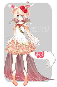 Flowers Meanings Courage 63 New Ideas Character Concept, Character Art, Concept Art, Manga Art, Manga Anime, Anime Art, Neko, Flower Meanings, Anime Dress