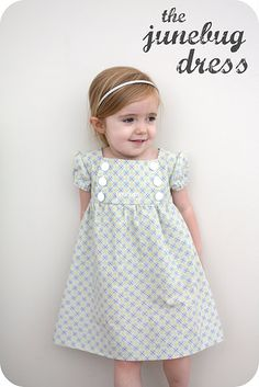 "junebug dress tutorial--pattern is 2T-3T.....another pinner wrote ""made Daphne's easter dress from this yesterday--took me a day, since I'm new to sewing, but very easy to follow tutorial and cute to boot!"""