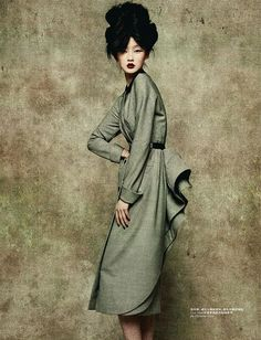 John Galliano and Christian Dior. images photographed by Sun Jun featuring model Lili Ji for L'Officiel China Sep 2010.