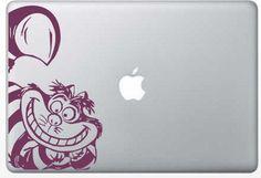 Custom order vinyl Cheshire Cat design for laptop or ipad